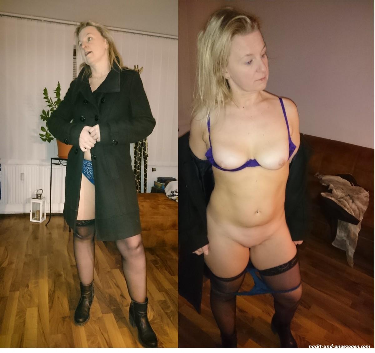 Mantel nackt unter Nackt Unter