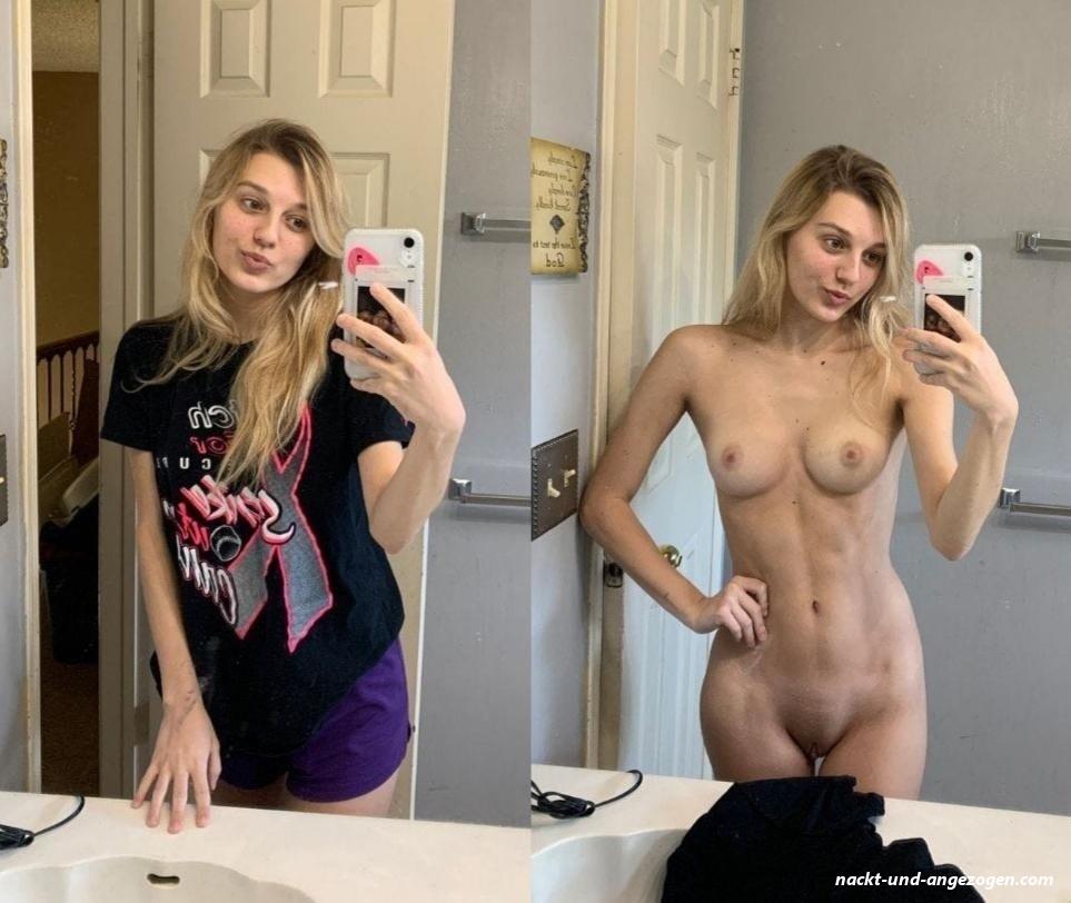 Selfie nackt und angezogen Private Sex