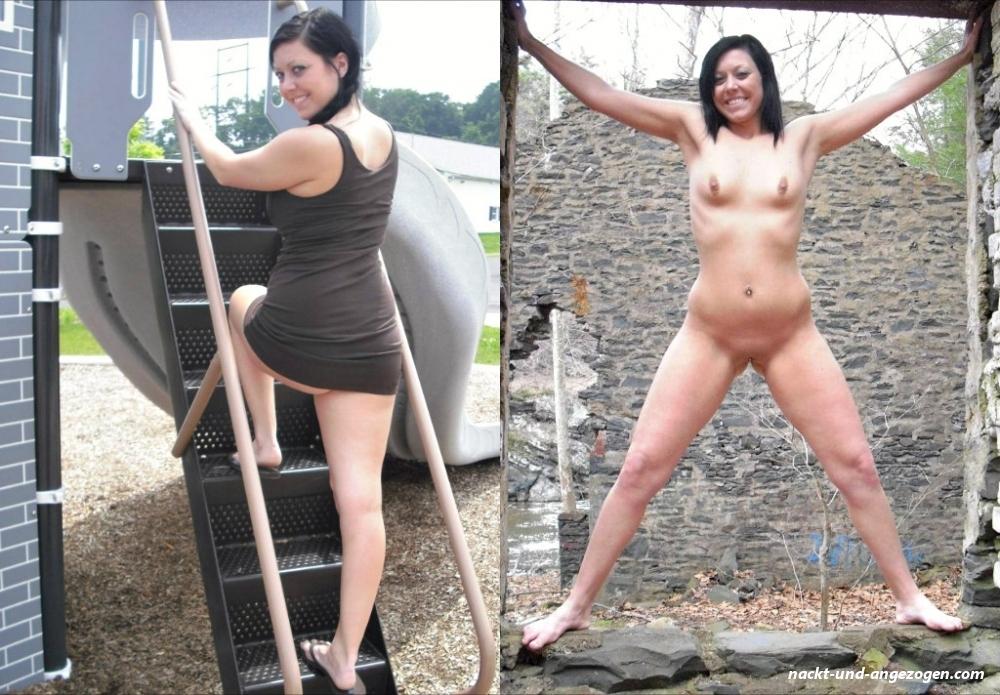 Angezogen mädchen nackt 【ᐅᐅ】 Nackt