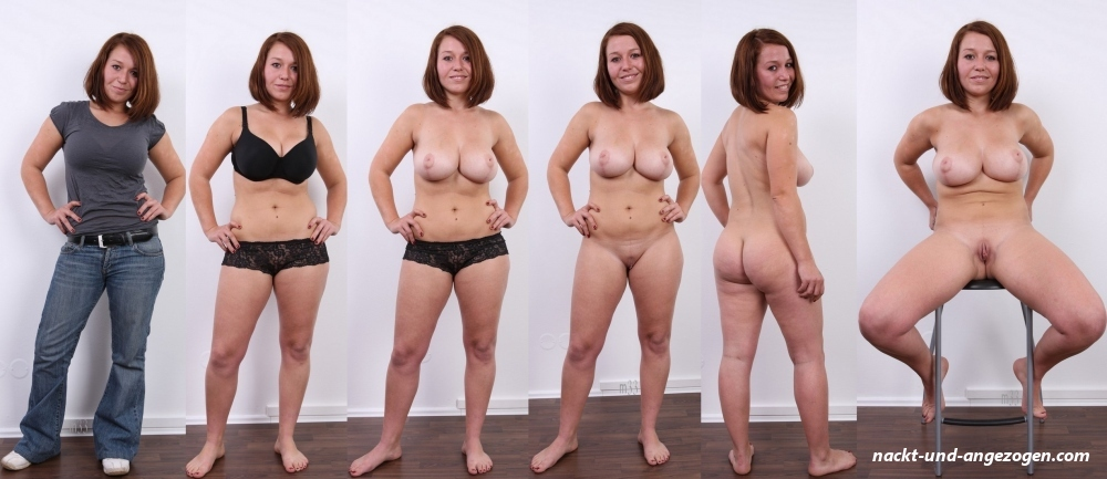 Mollig nackt und angezogen