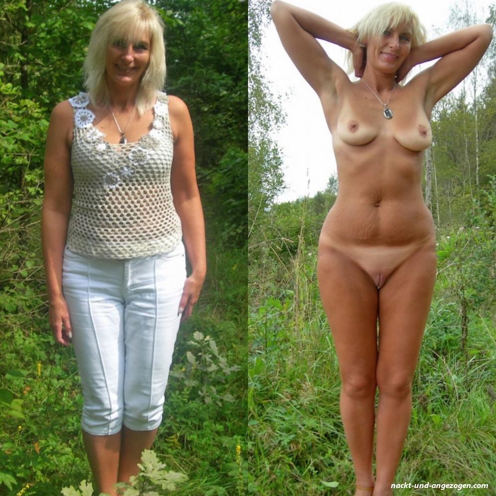 Nackt und angezogen pics