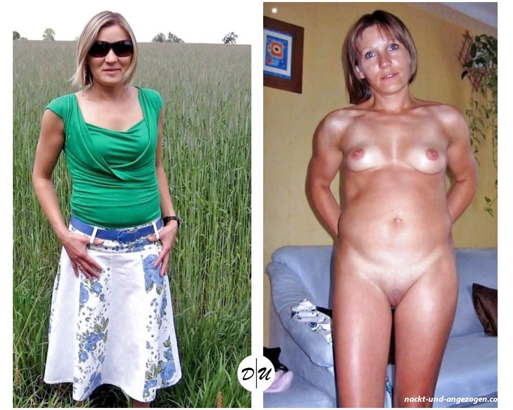 Angezogen nackt reif und Nackt und
