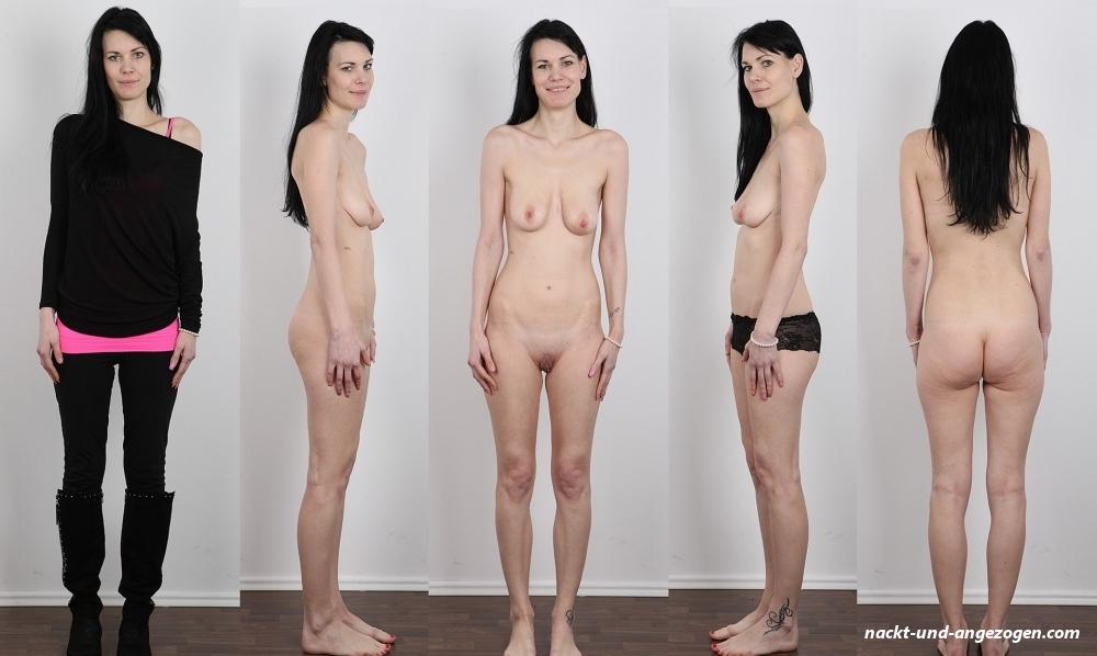 Und angezoge nackt frauen Reife Frau