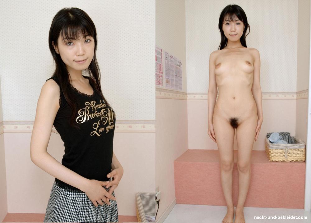 Angezogen und japanerin nackt Reife angezogen