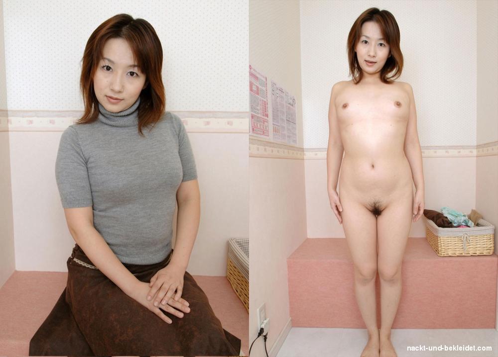 Angezogen und japanerin nackt Sexy Japanerin