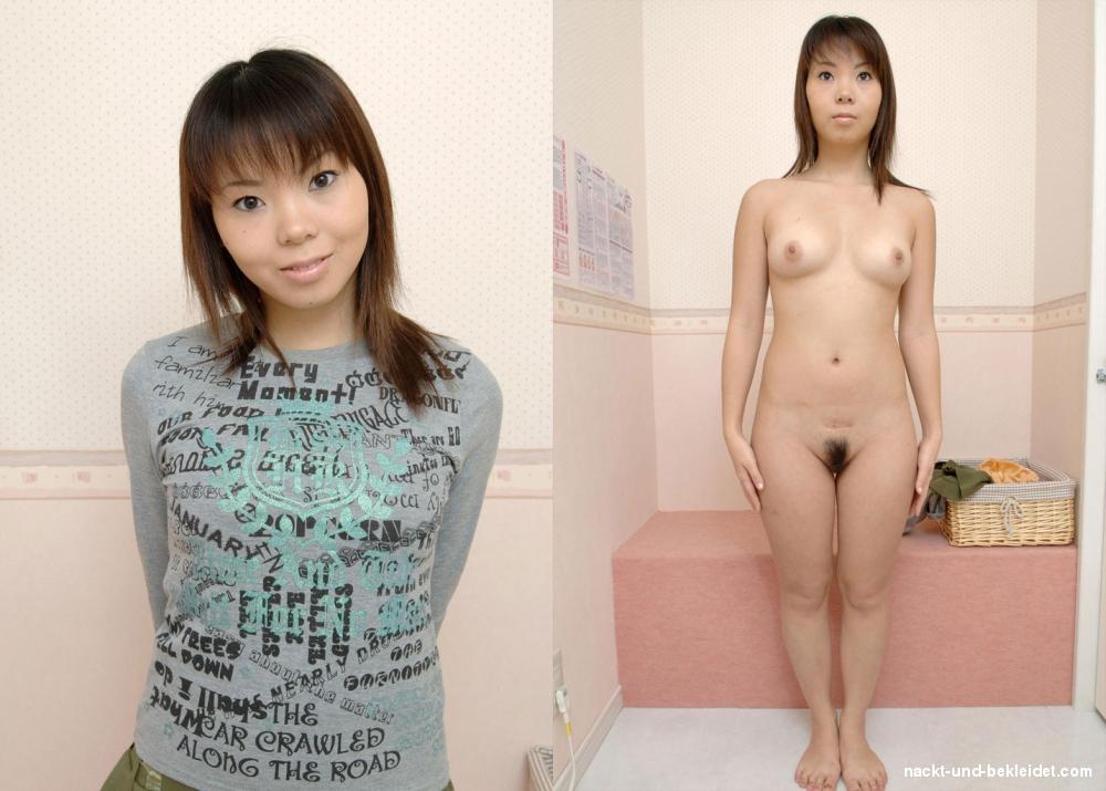 Japanerinen nackt und angezogen