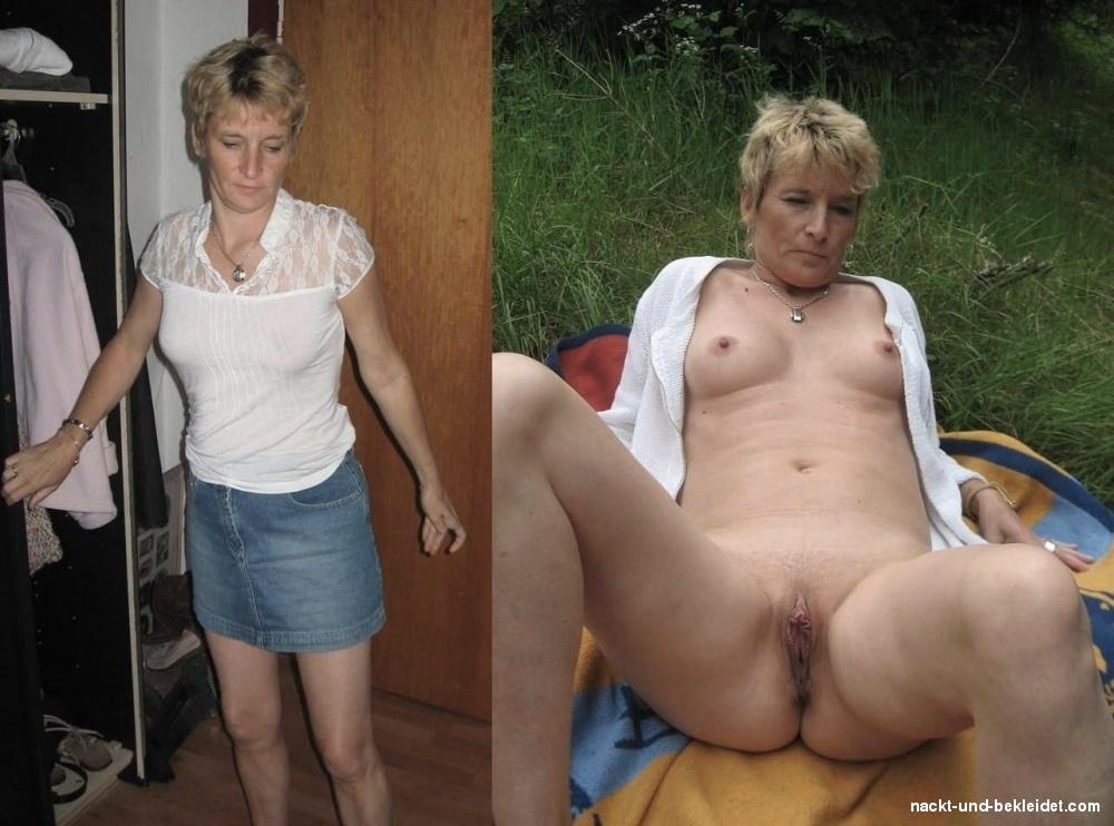 Nackt bekleidet bilder und frauen Nackt Und