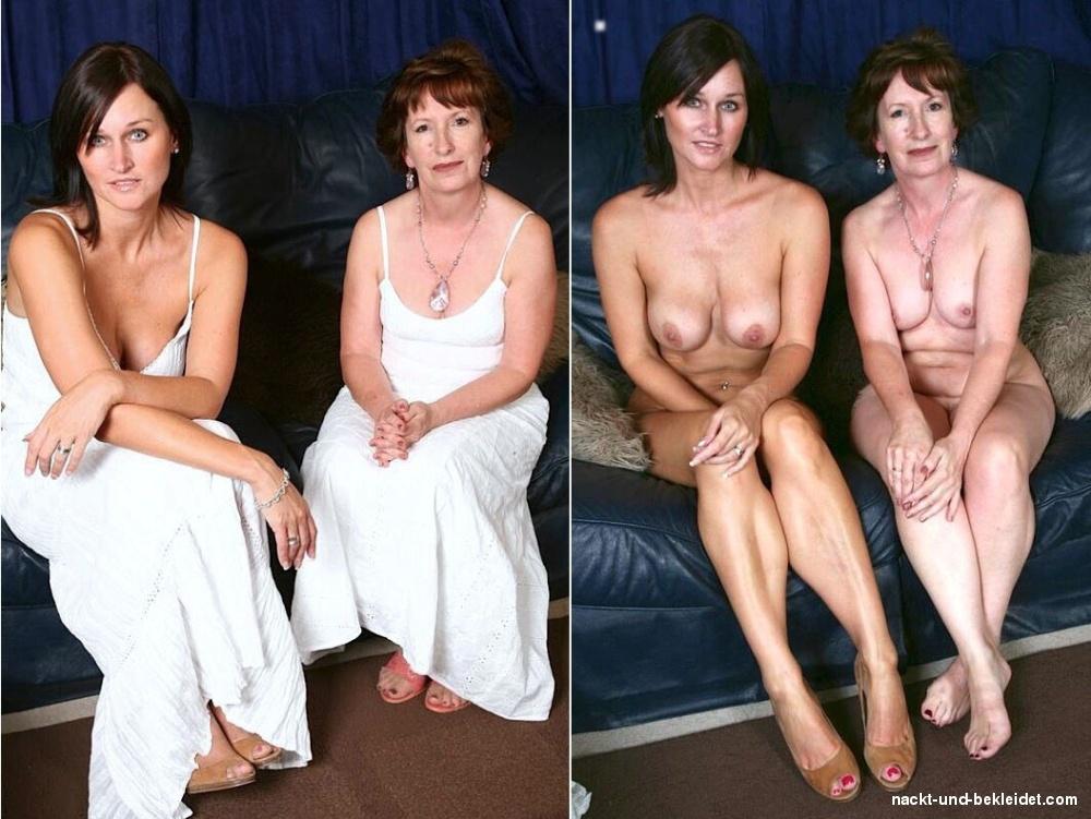 Bekleidet und nackt paare Beste Paare