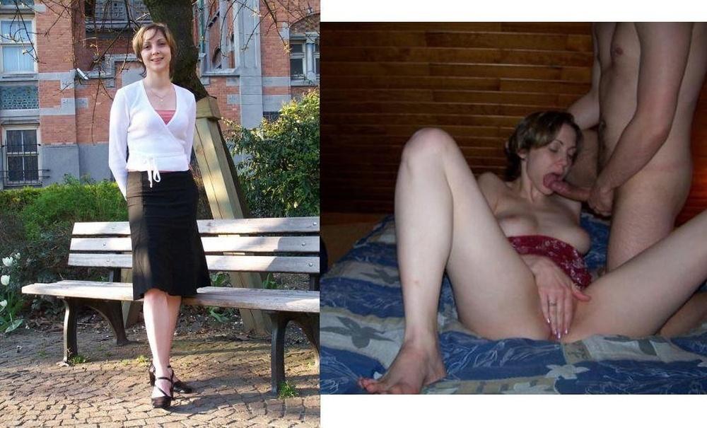 Paare nackt und angezogen